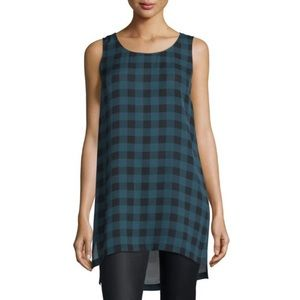 Eileen Fisher Buffalo Check Tunic 100% Silk M